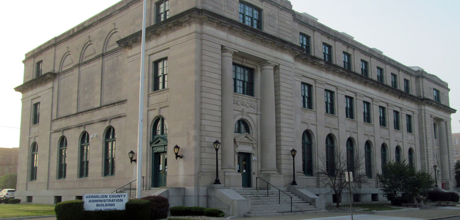 Exterior photo of the Vermilion County Administration Building