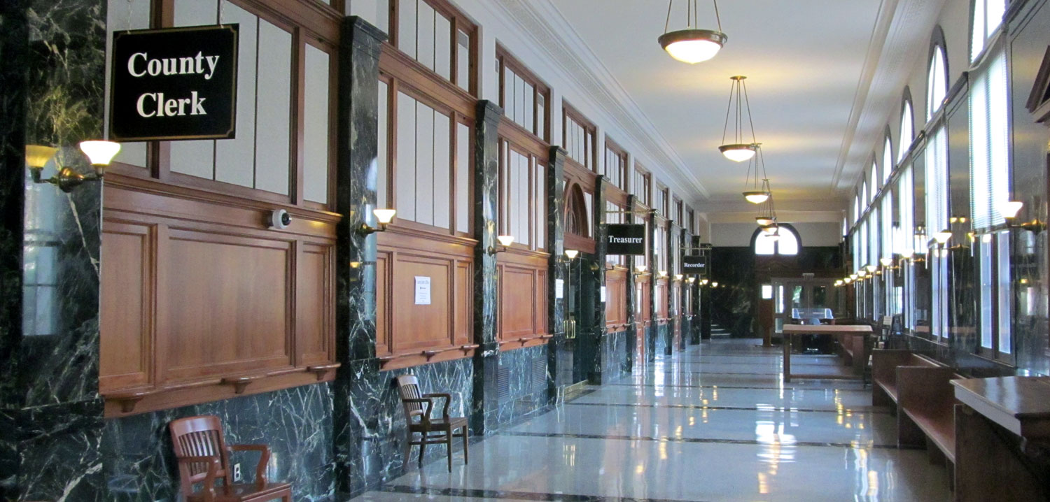 Interior hallway photo of the Vermilion County Administration Building